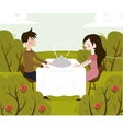 romantic date of man and vector image