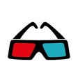 3d glasses icon Movie design graphic vector image