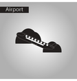 black and white style icon airplane takeoff vector image