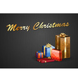 christmas background dark text vector image
