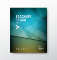 Cover brochure abstract triangle design blue backg vector image