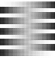 striped pattern with halftone effect vector image