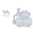 water pump pumping station vector image