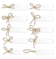 Label set with rope bows vector image
