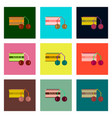 set pixel icons of cherry sauce vector image