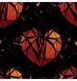 Geometric 3d Broken heart vector image vector image