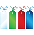 Gift tags vector image