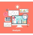 Analysis Stock Exchange Rates on Monitors vector image