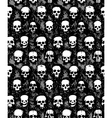 set of hand drawn skulls vector image