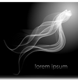 abstract smoke background isolated flow vector image