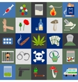 Alcohol drugs and tabac icons vector image