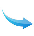 blue arrow 3d sign icon vector image