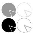 circle diagram icon grey and black color vector image