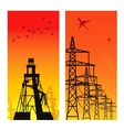 Electricity Pylons vector image