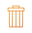 garbage trash can file contains objects web vector image