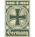 Germany poster vector image