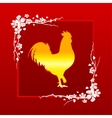 Golden Rooster symbol of Chinese New Year 2017 vector image