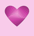 hand-made paper folding heart isolated on violet vector image