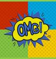 Pop art omg logo vector image