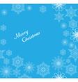 snowflake frame Christmas vector image