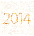Social network 2014 background media icons vector image