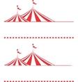 Tent borders vector image