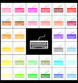 keyboard simple sign  felt-pen 33 colorful vector image