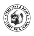 Ape head logo in black and white vector image