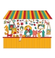Art hand made fair toys seller isolate on white vector image