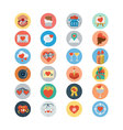 Love and Romance Flat Colored Icons 1 vector image