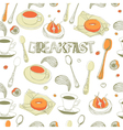 Breakfast Seamless Pattern vector image vector image