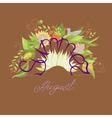 lettering Summer August with leaves flowers vector image vector image
