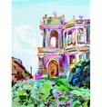 painting of opera theater Odessa Ukraine vector image