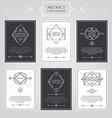Abstract Card Designs Set vector image