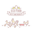 Agribusiness of chicken farm life with nat vector image