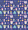 baby icons seamless pattern vector image