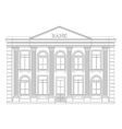Bank building outline icon isolated Elegant thin vector image