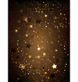 Brown Background with Stars vector image