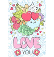 greeting card for valentines day birthday save vector image