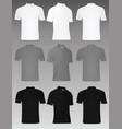 men polo t shirt set vector image