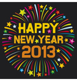 happy new year 2013 firework vector image vector image