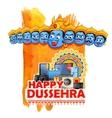Ravana for Happy Dussehra sale promotion vector image vector image