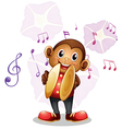 A musical monkey vector image