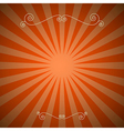 Vintage Abstract Retro Red Background vector image