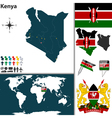 Kenya map vector image