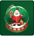 snow globe with santa vector image