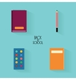 abstract school objects vector image