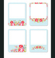 Card with red roses on a pink background vector image