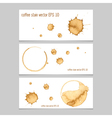Coffee stain watercolor banner vector image