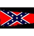 Confederate flag splash vector image